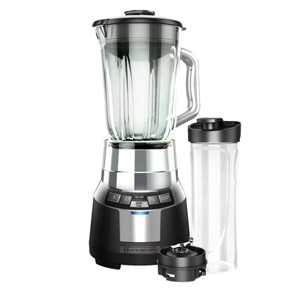Picture of FusionBlade™ Digital Blender with Personal Smoothie Jar Black & Silver