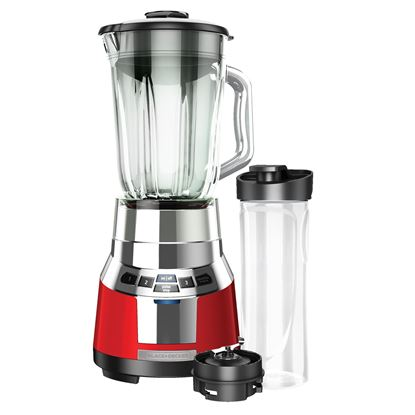 Picture of FusionBlade™ Digital Blender with Personal Smoothie Jar Red & Silver