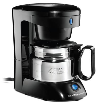 Picture of Andis Four-Cup Coffee Maker with Stainless Carafe