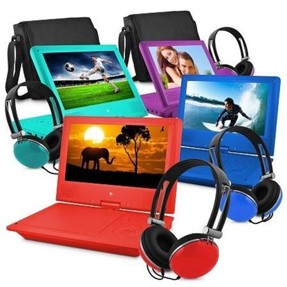 "Picture of Ematic 9"" Portable DVD Player with Matching Headphones and Bag"