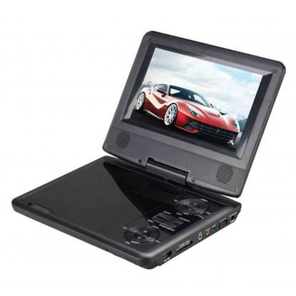 "Picture of 7"" Portable DVD Player with Swivel Display"