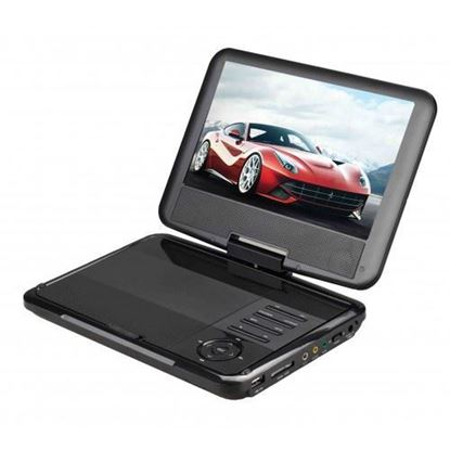 "Picture of 9"" Portable DVD Player with Swivel Display"
