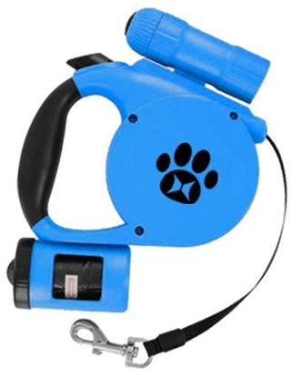 Picture of Retractable Leash w/Light & Waste Bag Dispenser
