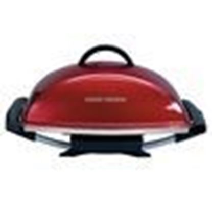 Picture of Indoor|Outdoor 12+ Serving Rectangular Electric Grill with Ceramic Plates - Red