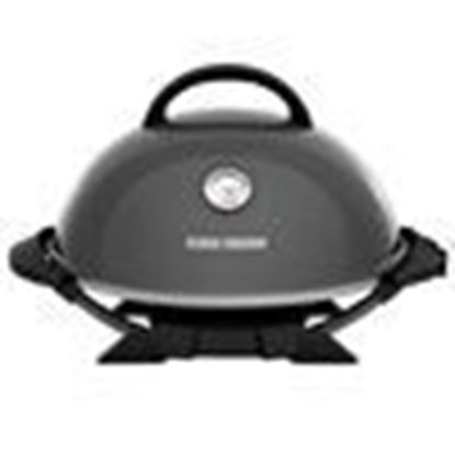 Picture of Indoor|Outdoor 15+ Serving Domed Electric Grill with Ceramic Plates & Temperature Gauge - Gun Metal