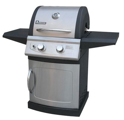 Picture of Falcon 2-Burner Gas Grill - Stainless Steel & Black