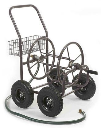 Picture of Four Wheel Hose Cart with Basket