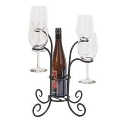Picture of Black Wine and Glass Caddy