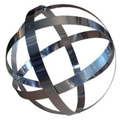Picture of Stainless Steel banded sphere ornament