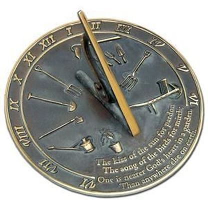 Picture of Handcast solid brass sundial