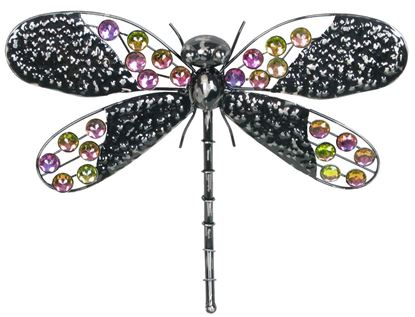 "Picture of 16"" Rainbow Bling Dragonfly wall ornament"