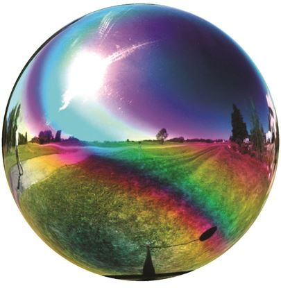 "Picture of 10"" stainless steel gazing globe"