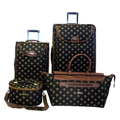Picture of American FLyer 4-pc Fleur De Lis Luggage Set