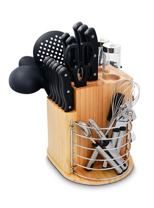 Picture of PURELIFE 31 Piece Carousel Knife & Kitchen Tool Set