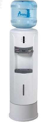 Picture of Hot and Cold Water Dispenser with Pedestal features Lightweight Durable Plastic Body