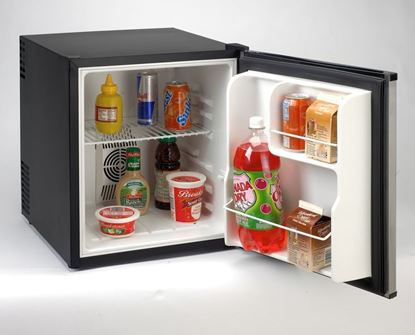 Picture of 1.7 Cubic Foot Compact Superconductor Refrigerator with Black finish & Stainless Steel door