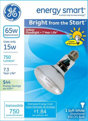 Picture of GE Soft White Directional R30 CFL Bulb
