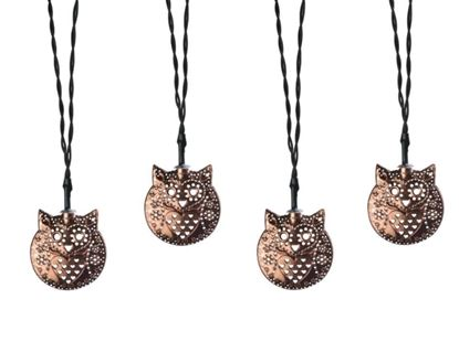 Picture of Coleman Cable Plug-In LED Metal Owl String Lights