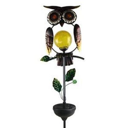 Picture of Coleman Cable Solar Powered White LED Owl Stake Light