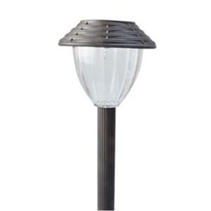 Picture of Coleman Cable Woven Style Solar Powered LED Path Light, 6-Pack, Brown Finish