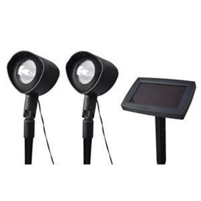 Picture of Coleman Cable Solar Powered Spotlights with Remote Solar Panel, 2 pack