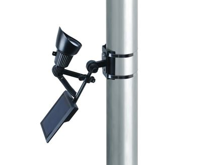 Picture of Coleman Cable Premium Output Solar Powered LED Flagpole Light, Black Finish
