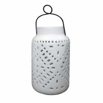 Picture of Tangier Large Solar Ceramic Lantern