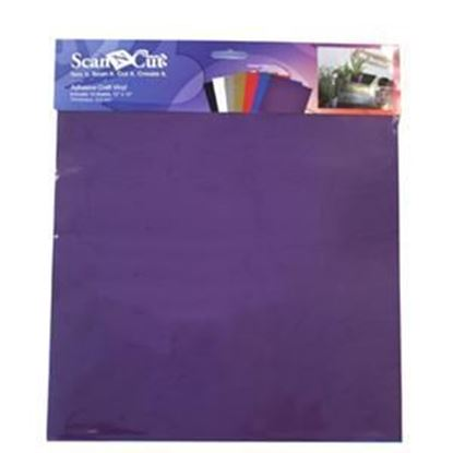 """Picture of Brother Adhesive Craft Vinyl 12""""x12"""" Sheets-10 Pieces"""