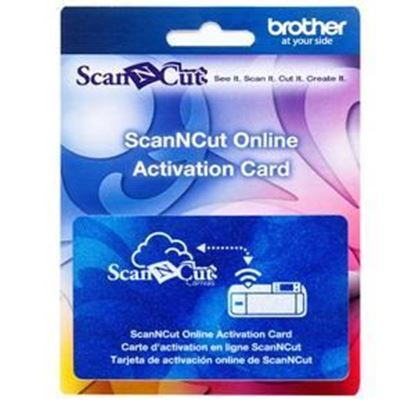 Picture of Brother ScanNcut Wireless on-line activation card