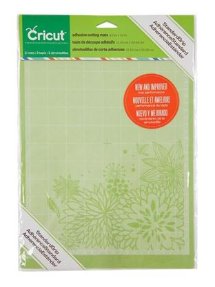 """Picture of CRICUT 8.5"""" x 12"""" Standard Grip Adhesive Cutting Mats, 2-Pack"""