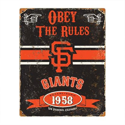 Picture of Embossed Metal Sign - MLB