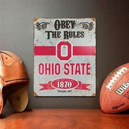 Picture of Embossed Metal Sign - NCAA - Ohio State Buckeyes