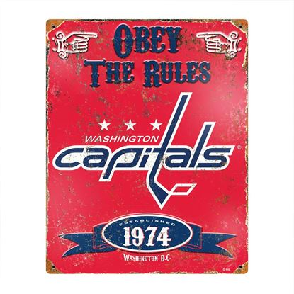 Picture of Embossed Metal Sign - NHL