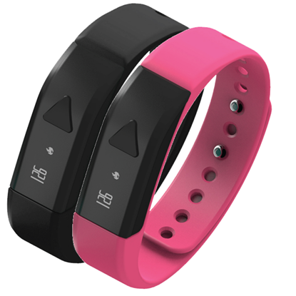 Picture of Fitness Wristband with Bluetooth® (Pink or Black)