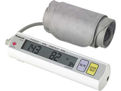 Picture of Portable Blood Pressure Monitor with Upper Arm Blood Pressure Cuff - Digital Filter Technology and Large LCD Display