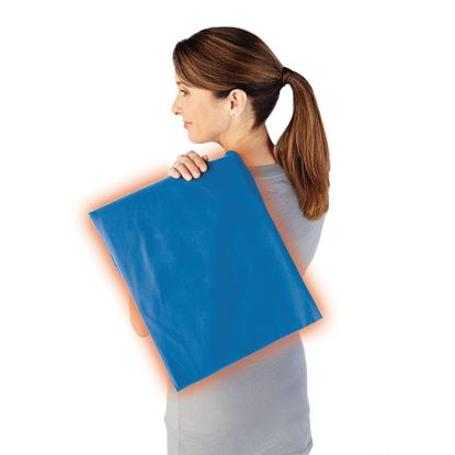Picture of Sunbeam® Moist / Dry Heat Heating Pad with LED controller, King Size, Newport Blue