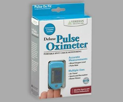 Picture of Deluxe Pulse Oximeter Blood Oxygen Level Monitor