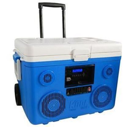 Picture of KoolMAX - 40-Quart Cooler, Bluetooth Audio System and Power Station (Blue, Red, Gray, or Orange)