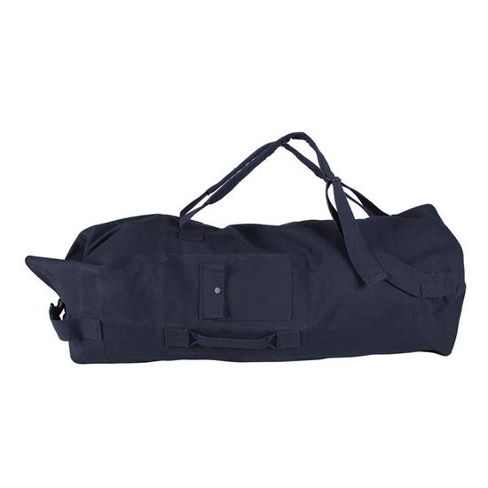 Picture of DOUBLE STRAP BLACK CANVAS BAG
