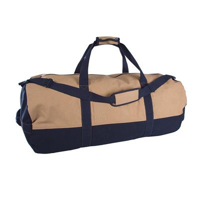 Picture of Two-Tone Canvas Duffle Bag with Zipper