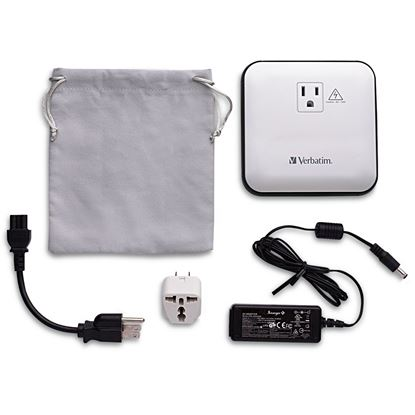Picture of AC/USB Portable Power Outlet, 12,000mAh - Silver