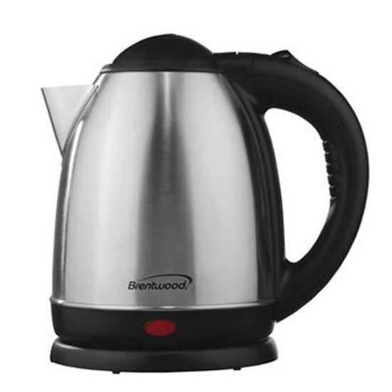 Picture of 1.2 Liter Stainless Steel Electric Cordless Tea Kettle; Brushed Finish