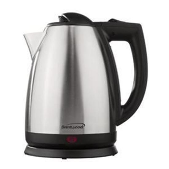 Picture of 2.0 Liter Stainless Steel Electric Cordless Tea Kettle; Brushed Finish