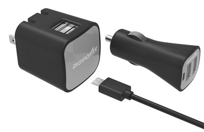Picture of DUAL USB WALL & CAR CHARGER KIT
