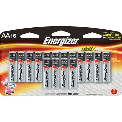 Picture of Energizer Max Alkaline 16 Pack of AA Batteries