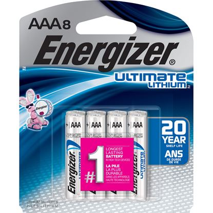 Picture of Energizer Ultimate Lithium AAA Batteries 8 Pack
