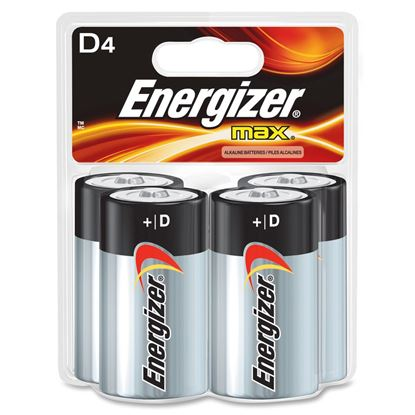 Picture of Energizer Max Alkaline D Batteries 4 Pack (Must buy 6 packs at a ttime)