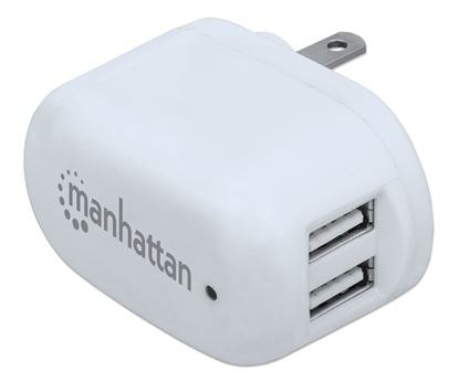 Picture of PopCharge Home NEMA 5-15, Two-Prong USB Wall Charger with Two Ports