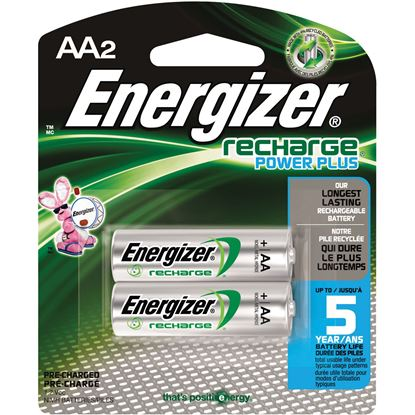 Picture of Energizer NH15BP-2 AA Nickel-metal Hydride Rechargeable Battery 2 or 4 Packs (Must purchsae 6 packs at a time)