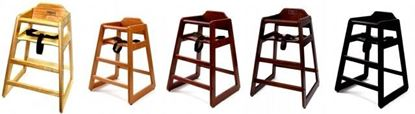 Picture of Child's High Chair (Walnut, Cherry, Pecan, Espresso, or Natural Finish)